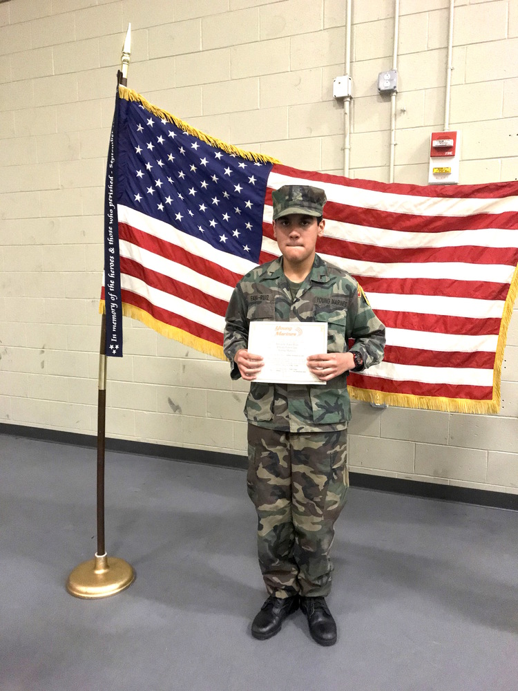 8th Grader Graduates as Young Marine