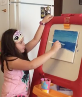 2nd Grader Sells Artwork to Raise Money for Healthcare Workers