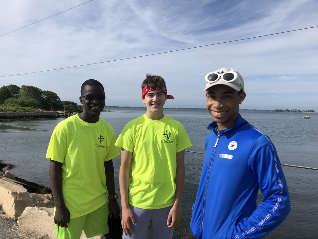 Eighth grade boys at Enders Island